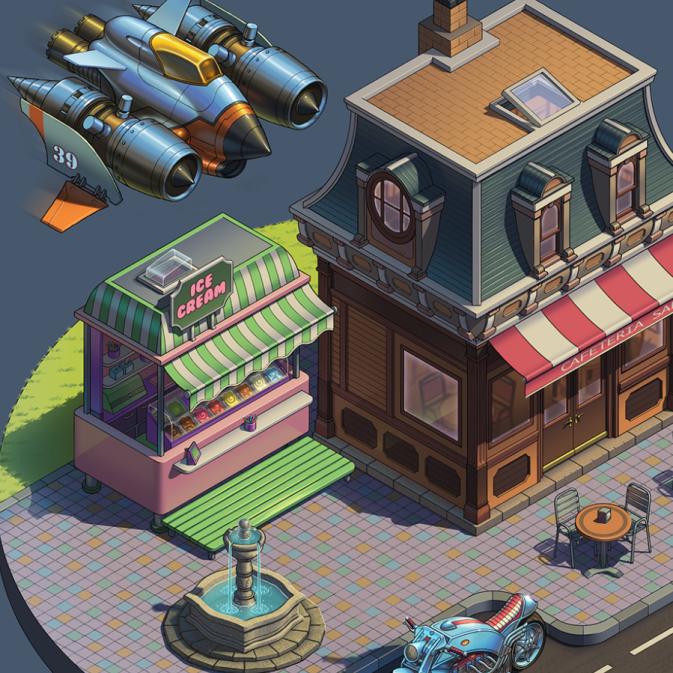 Entorno de ciudad 2D