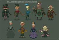 "Character Design ""Mephistown"""